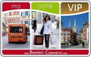 Carte VIP de la ville de Bayonne